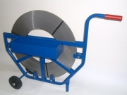 Strapping cart for steel tapes