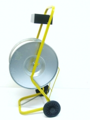Strapping cart for PP/PET tapes